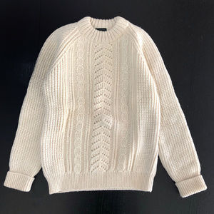 Vintage Lakeland Cream Fisherman Pullover Sweater